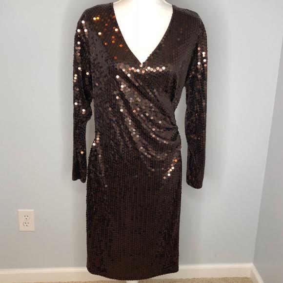 Oleg Cassini Dresses & Skirts - Oleg Cassini bronze sequined vintage dress size 10